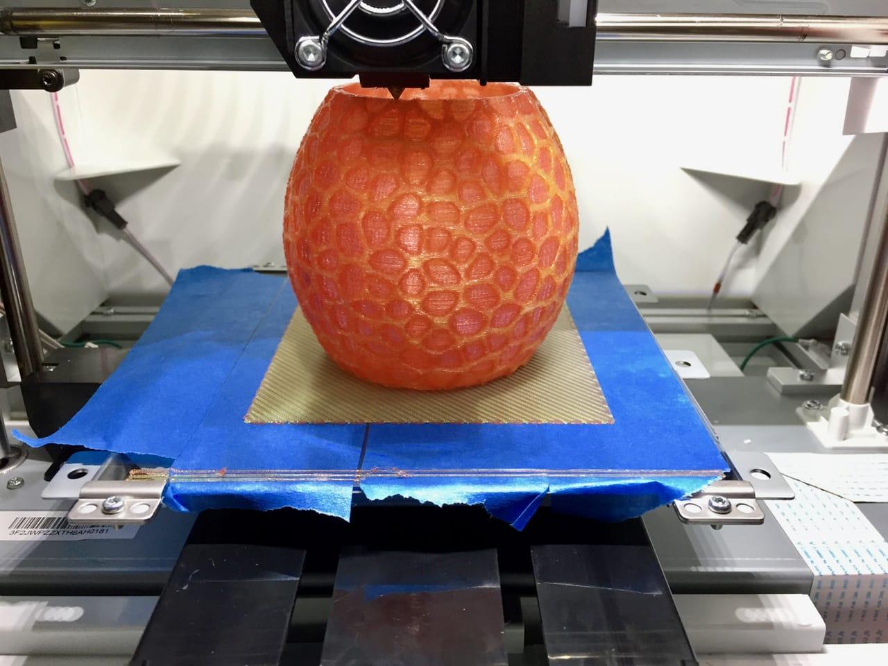 A long 26 hour dual-material 3D print that succeeded on the da Vinci Jr. 2.0 Mix
