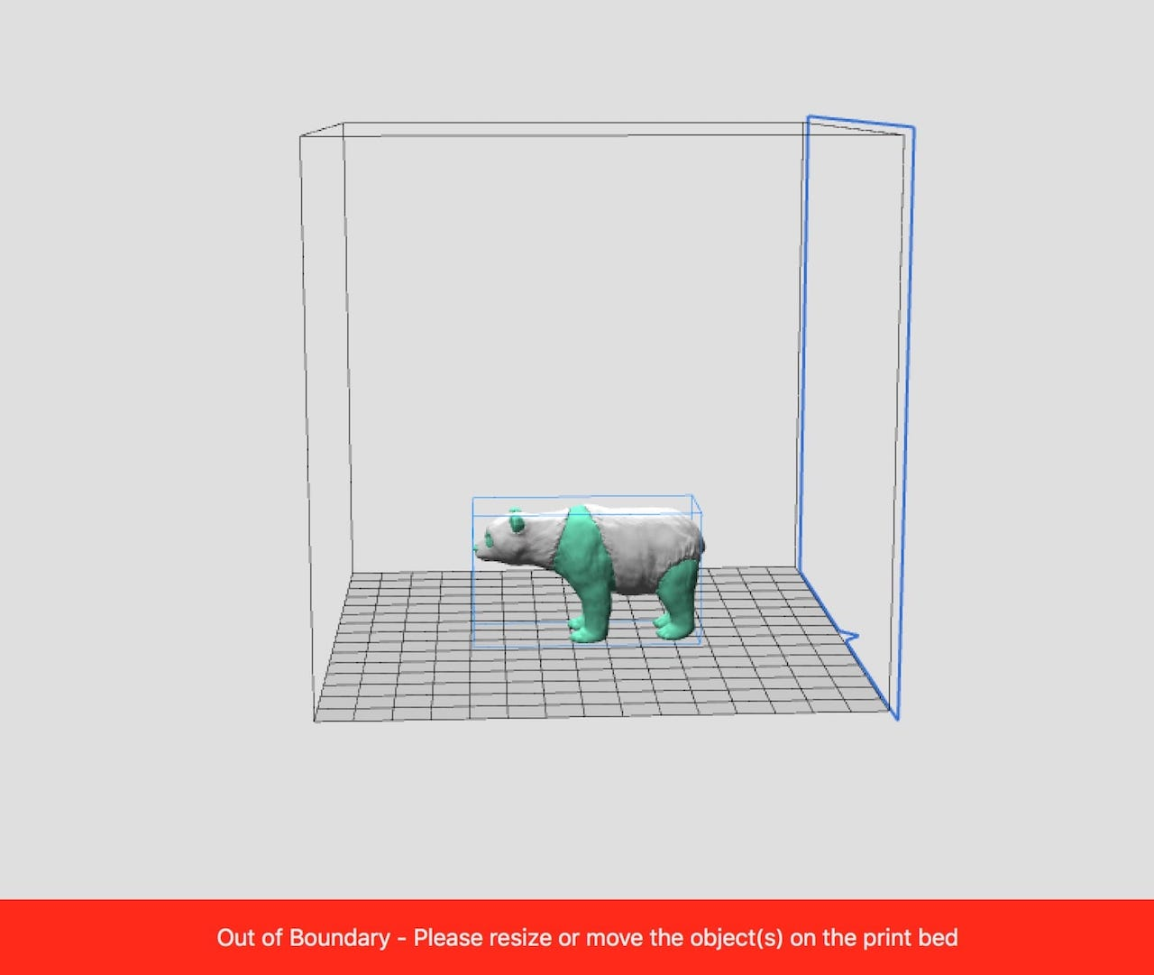 3D models were frequently detected as out of bounds, yet they did not seem to be