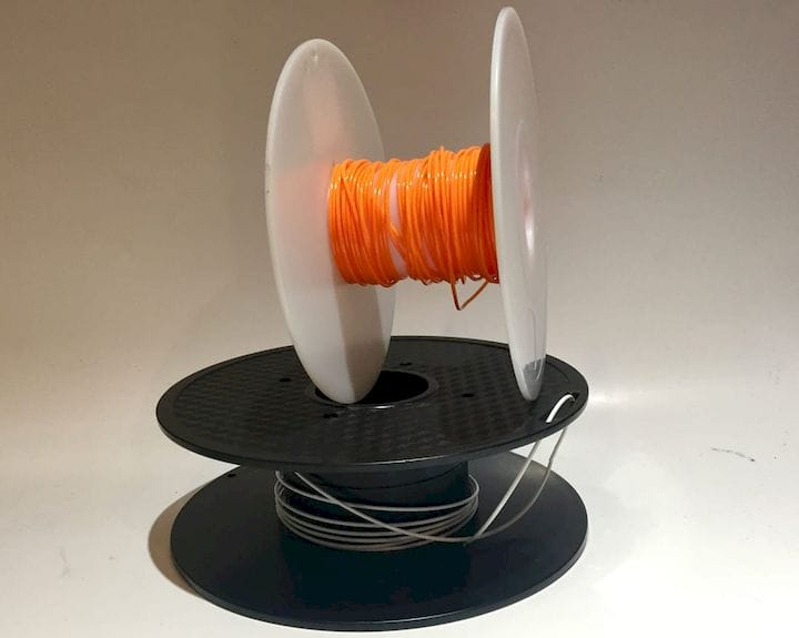 Tiny amounts of 3D printer filament left on spools [Source: Fabbaloo]