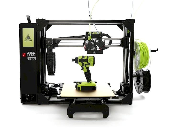 The new LulzBot TAZ Pro desktop 3D printer [Source: Aleph Objects]