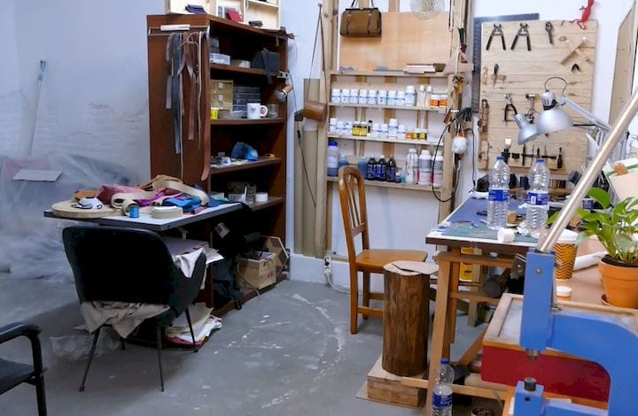 Example of a privately-rented area within the makerspace.