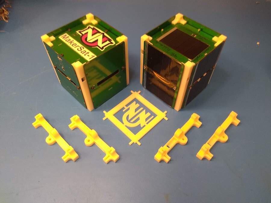 The MakerSat-1 CubeSat [Image: Stephen Parke, NNU]