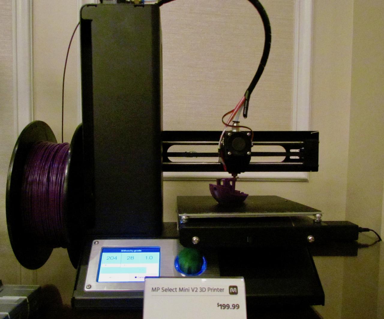 The new Monoprice Select Mini V2 desktop 3D printer