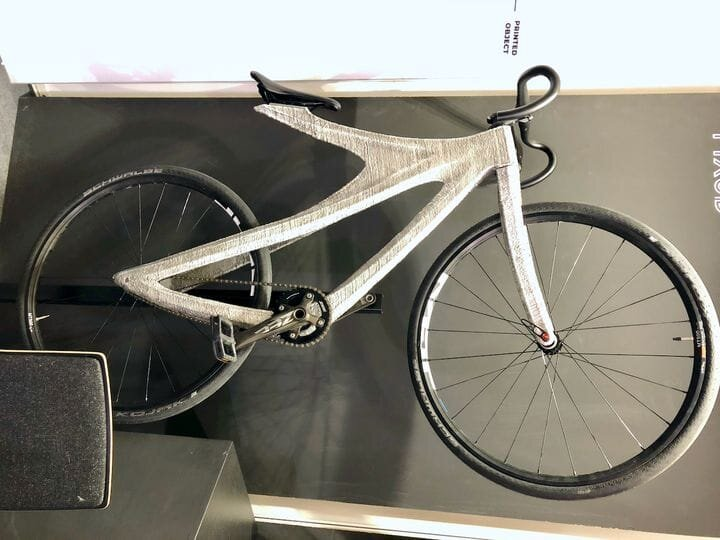A metal 3D printed bicycle, the Arc Bike II, by MX3D [Source: Fabbaloo]