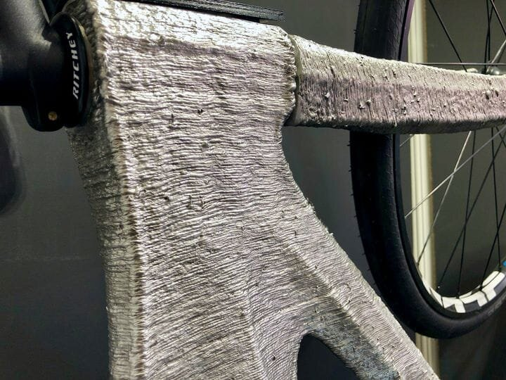 Detail of the metal 3D printed bicycle by MX3D [Source: Fabbaloo]