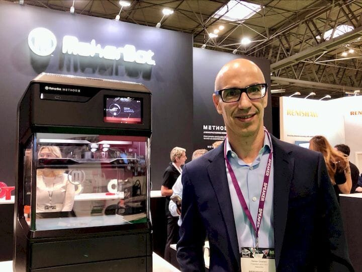 MakerBot CEO Nadav Goshen with the new MakerBot Method X [Source: Fabbaloo]