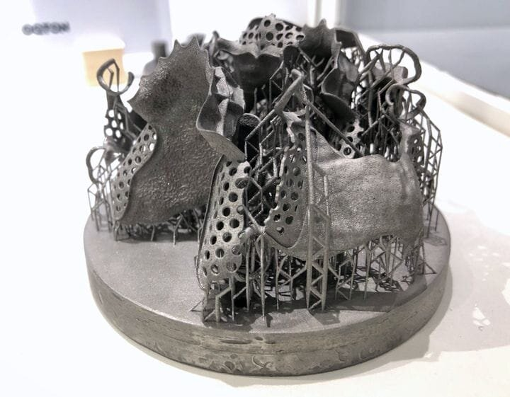 A highly complex and optimized metal 3D print prepared by Oqton [Source: Fabbaloo]