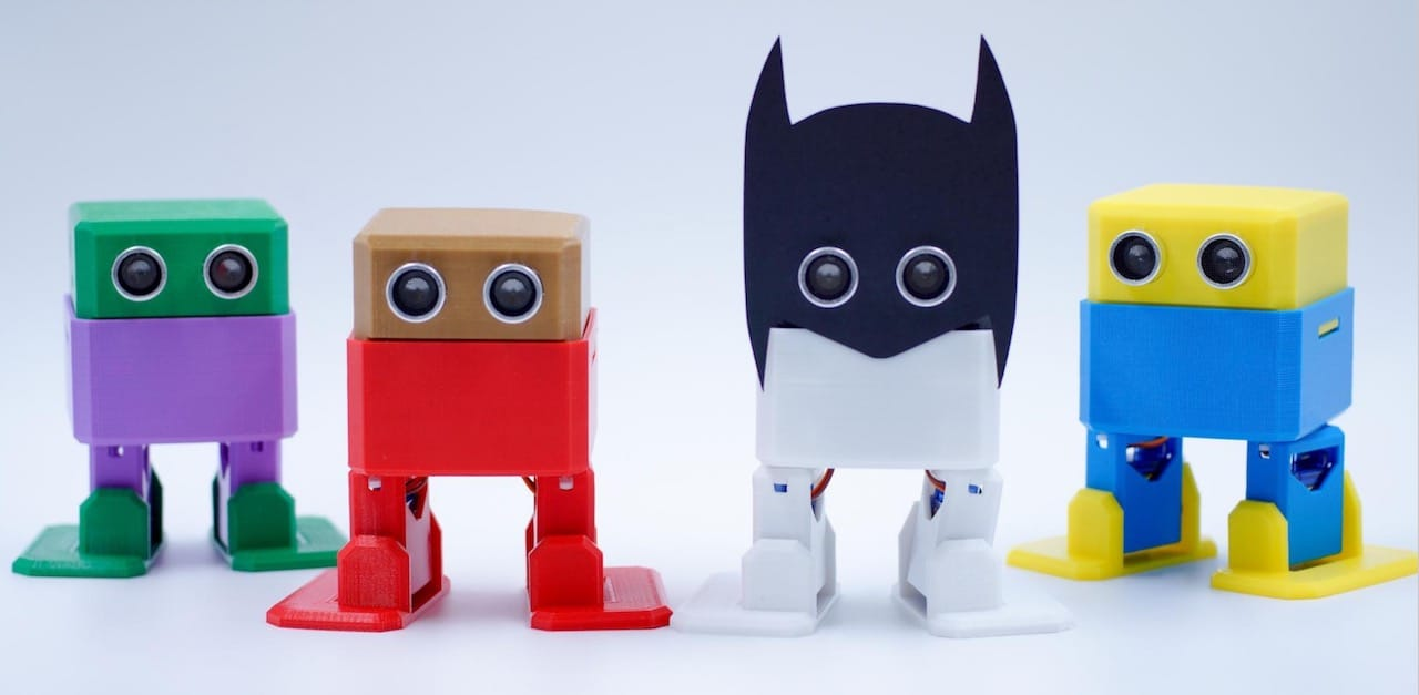 Otto can easily be modified to be made from different colors or include 3D printed add-ons