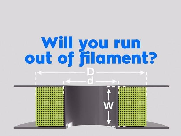A remaining filament calculator