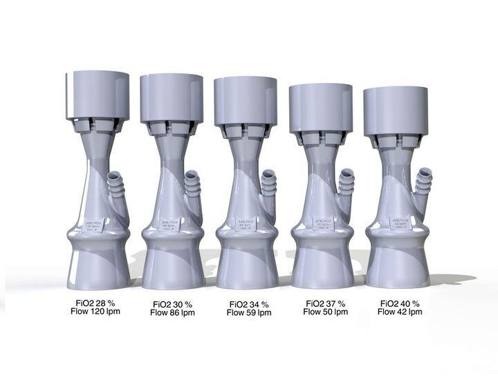 Open source design for a set of ventilator valves [Source: GrabCAD]