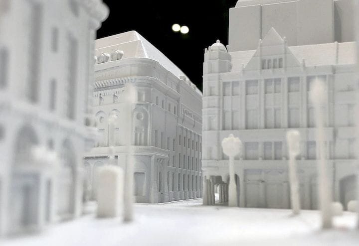A huge 3D print of London's Picadilly Circus by RPS and Fixie [Source: Fabbaloo]