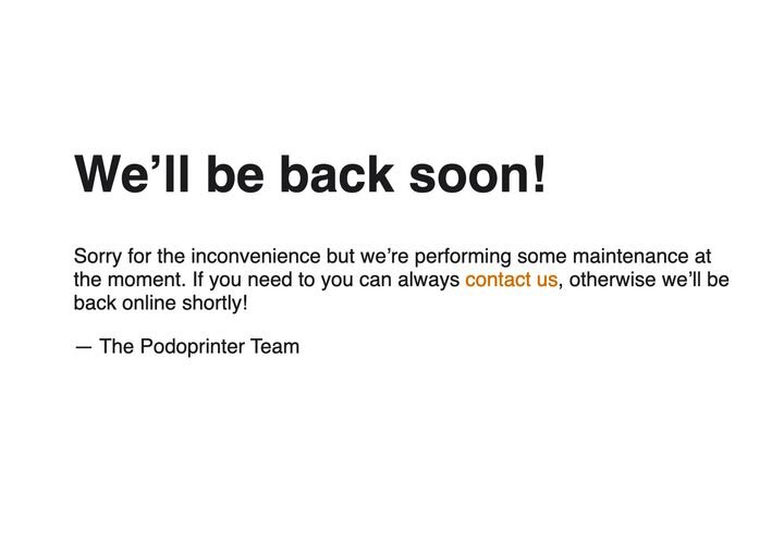 The Podoprinter website doesn't seem to present much information right now. [Source: Fabbaloo]