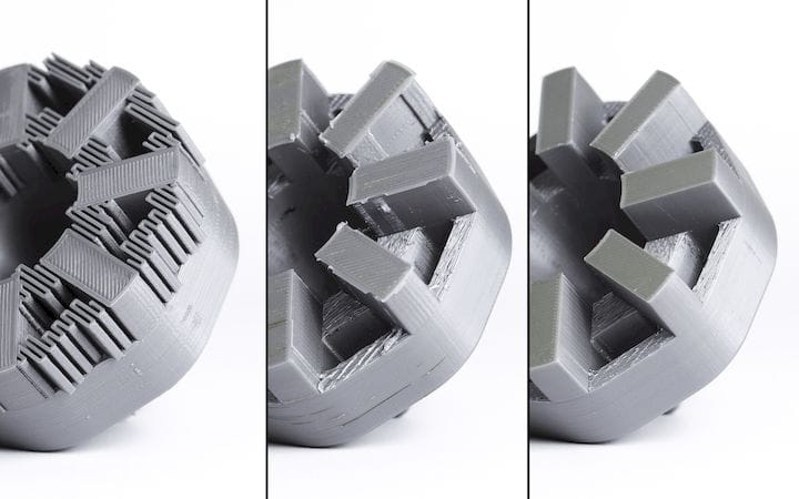 From the 3D printer to completely finished [Source: 3D Hubs]