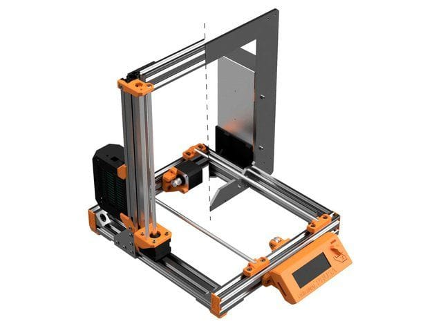 Split view of a Prusa 3D printer before and after the Bear Upgrade [Source: Thingiverse]