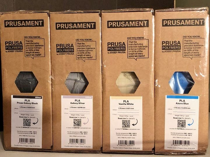 Prusament 3D printer filament tracks each and every spool's quality in a database accessible via a QR code [Source: Fabbaloo]