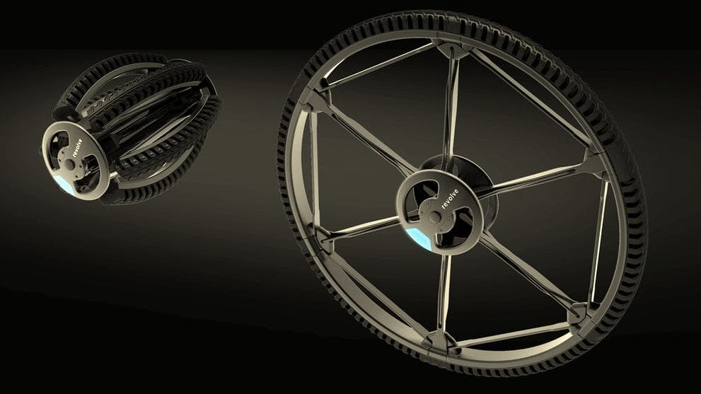 Revolve Innovates Wheel Design To Collapse and Convert Your Vehicle