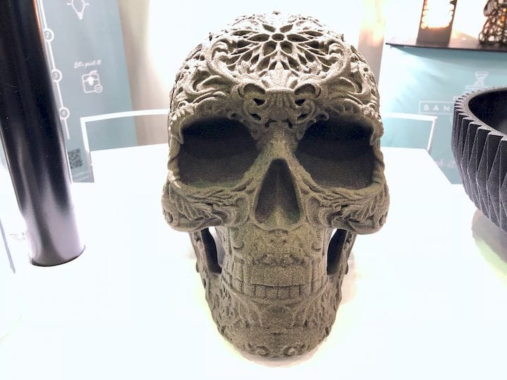 A 3D printed skull by Sandhelden [Source: Fabbaloo]