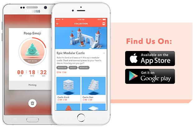 The Toybox app from which the 3D printer is controlled