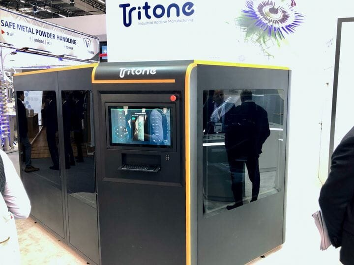 One of Tritone's prototype 3D printers using MoldJet technology [Source: Fabbaloo]