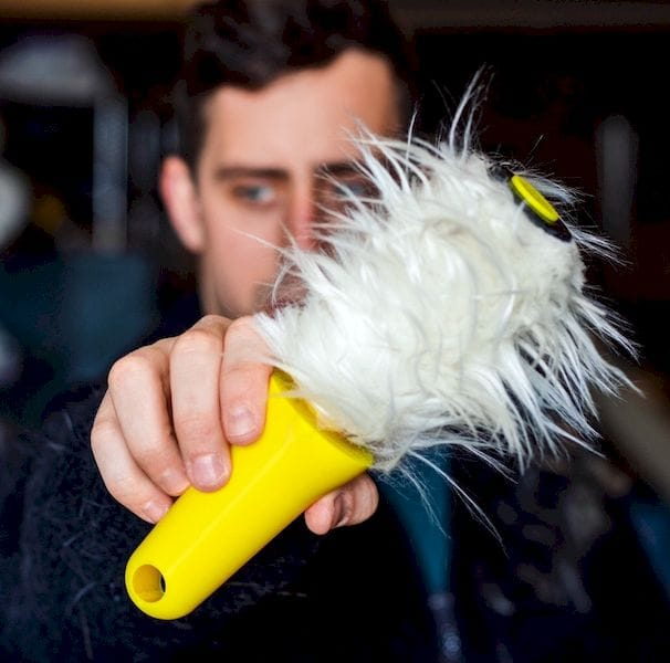 The FurRoller lets you distribute fur on your clothes to pretend you own a pet [Source: Matt Benedetto]