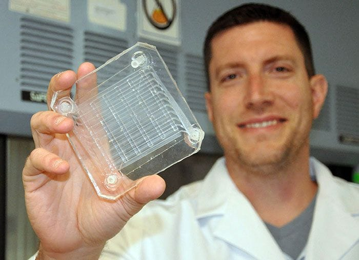 The 3D printed gas exchange component of a future artificial lung [Source:U.S. Department of Veterans Affairs]