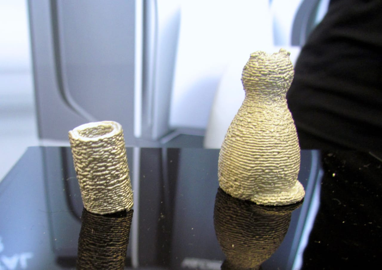Coarse looking 3D metal prints