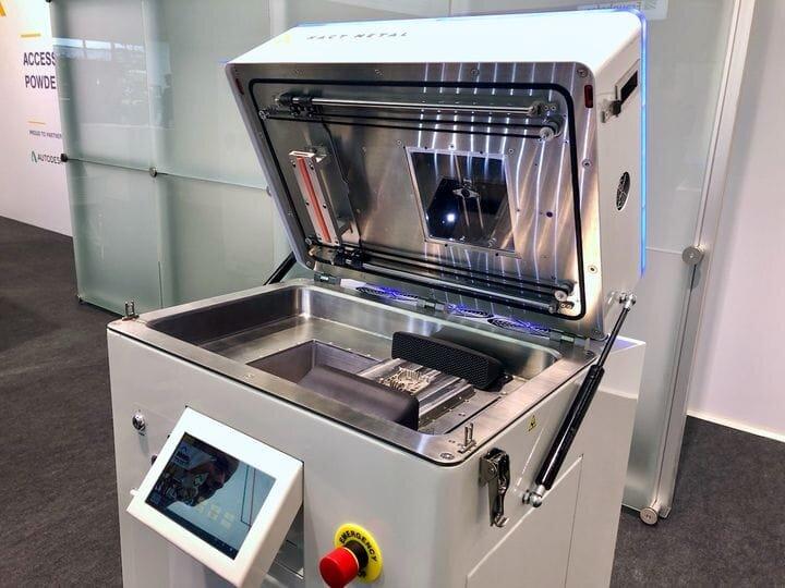 One of Xact Metal's metal 3D printers in open mode [Source: Fabbaloo]