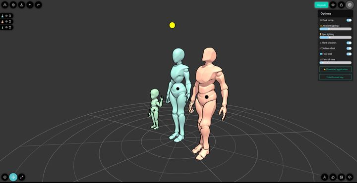 JustSketchMe is a Web App to Create and Download Poseable 3D Characters