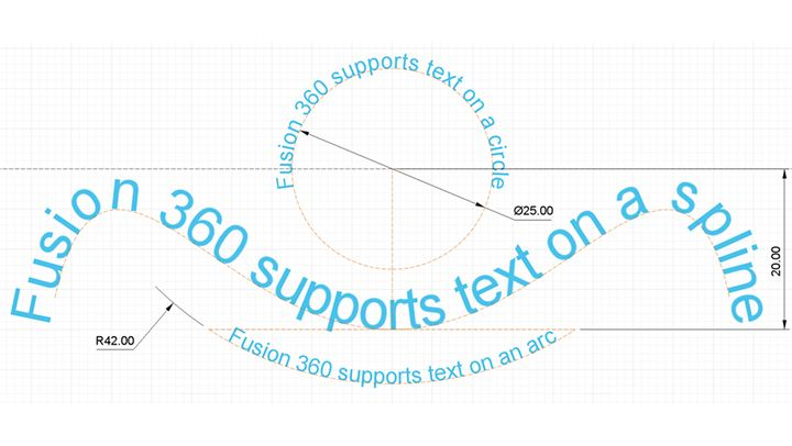 New Fusion 360 Features: Text on a Path, Text Frame, and More