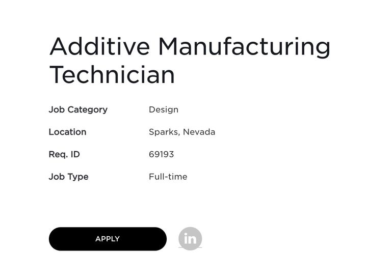 Tesla Job Post Juices 3D Printer Stocks