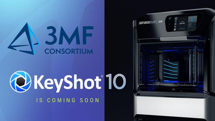 KeyShot 3MF Support Offers Full-Color 3D Prints