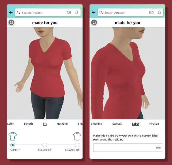 Made To Measure: Amazon's 3D Scan Fashions Could Lead To More 3D Printing