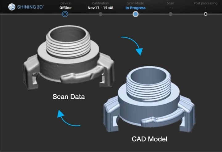 Shining 3D Launches Reverse Engineering Service