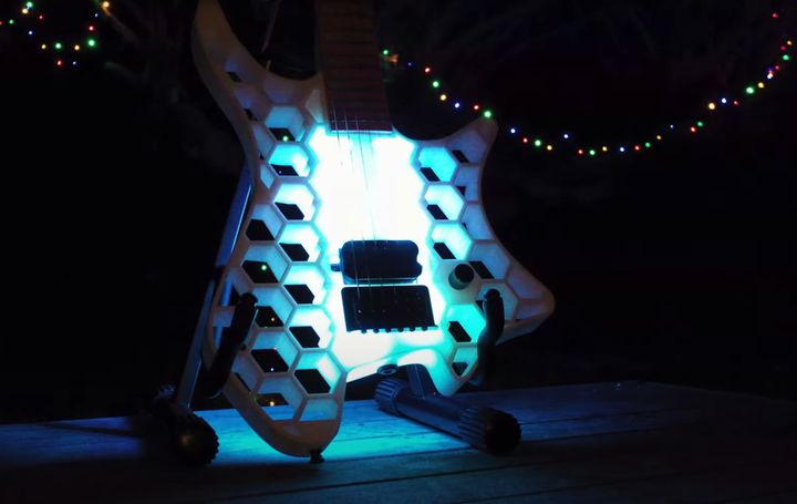 Design of the Week: 3D Printed Guitar That Lights Up