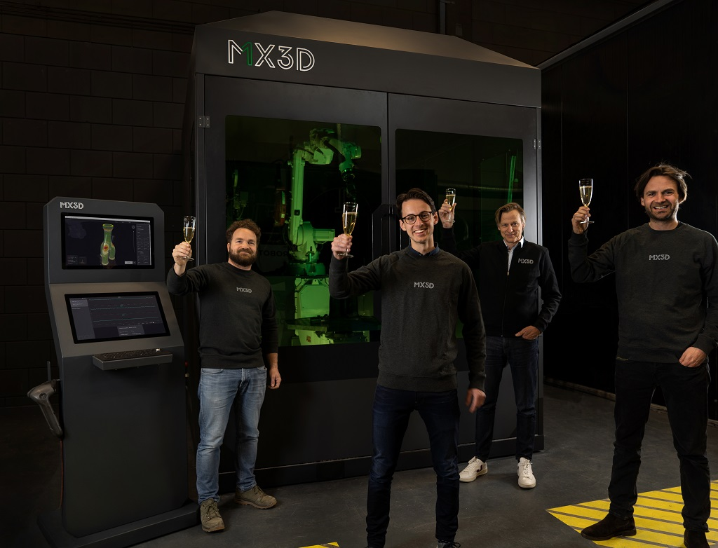 MX3D Raises €2.25M, Set To Launch Robotic Metal Additive Manufacturing System