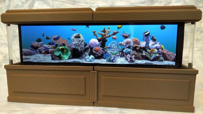 Design of the Week: 3D Printed Rockpiquarium Screen Saver