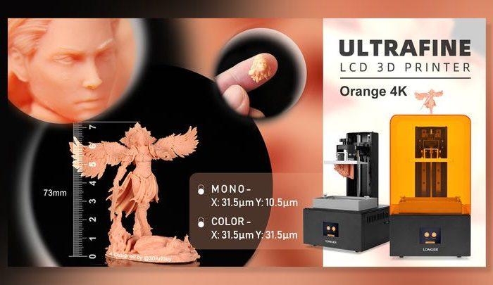 Longer Launches The High-Resolution Orange 4K SLA 3D Printer
