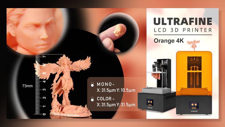 Longer Launches The High Resolution Orange 4K SLA 3D Printer