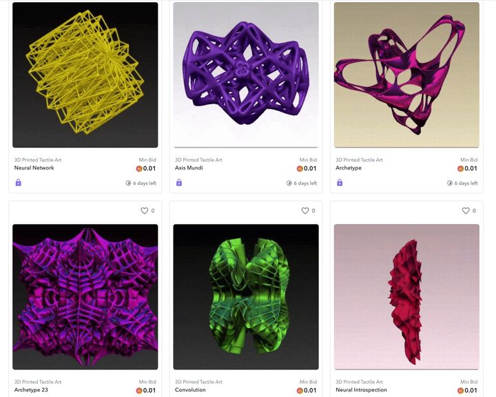 The First 3D Printed Art NFTs Appear