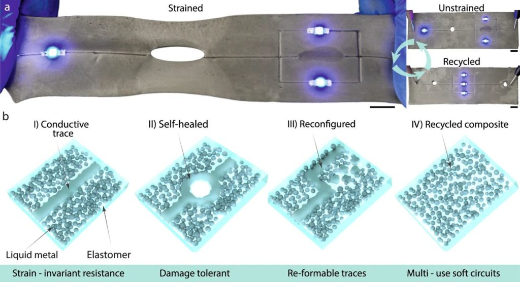 New Stretchable Composite Elastomer Is Also Conductive
