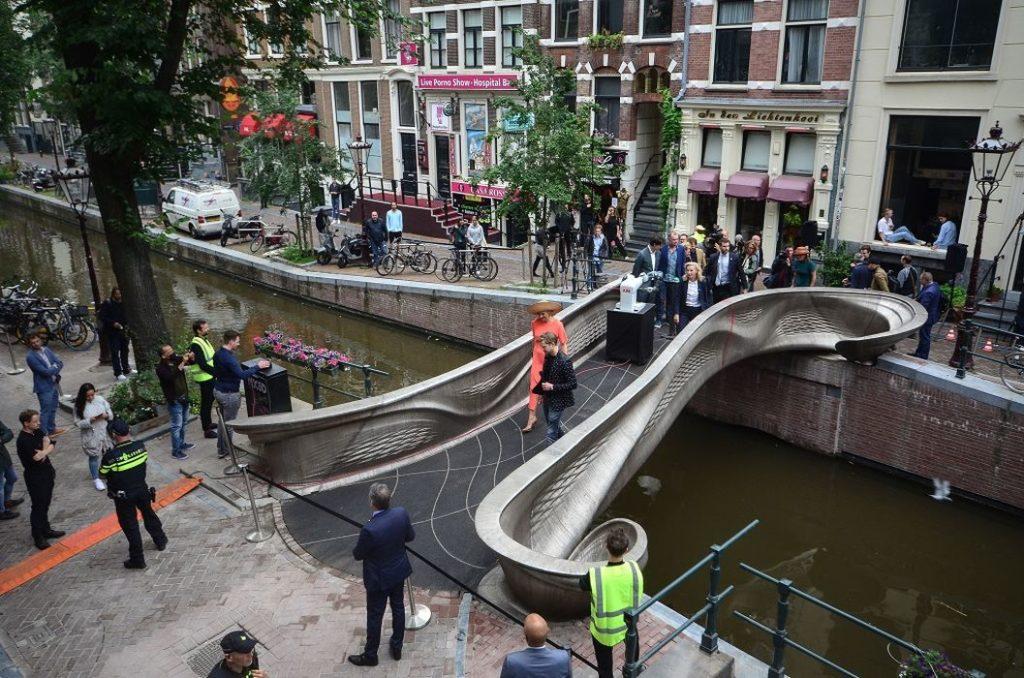 Amsterdam's 3D Printed Steel Bridge Is Finally Open