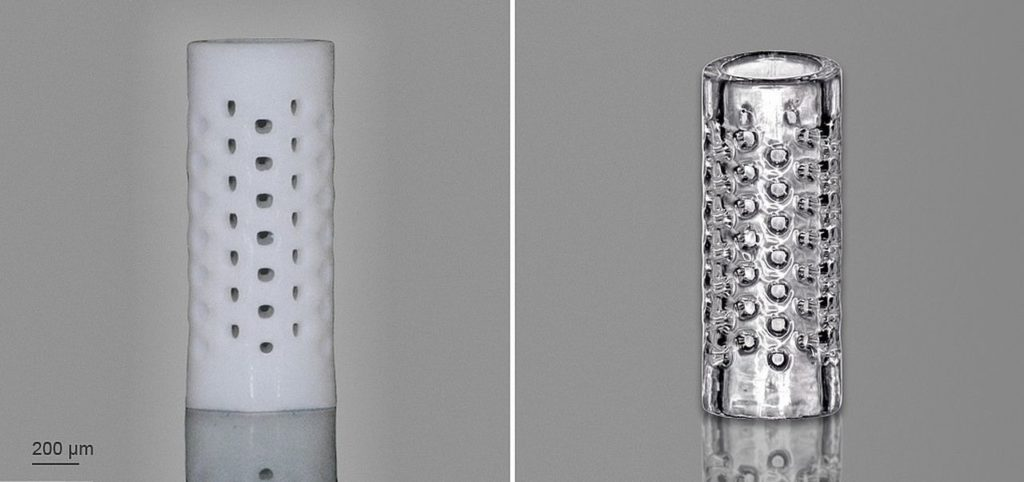 3D Printing True Glass Microstructures